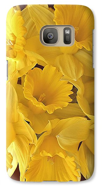 Galaxy Case featuring the photograph Flurry Of Daffodils by Diane Alexander