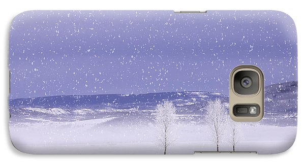 Galaxy Case featuring the photograph Flurry Trio by Kristal Kraft