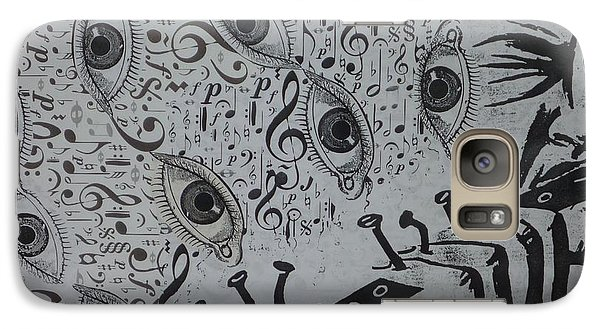 Galaxy Case featuring the mixed media Flute Concerto In Eye Minor by Douglas Fromm