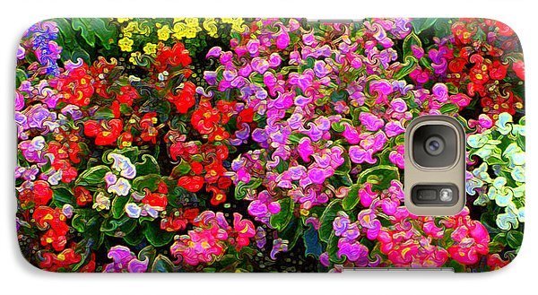 Galaxy Case featuring the mixed media Flwrs Test 1 by Terence Morrissey