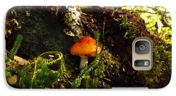 Galaxy Case featuring the photograph Fly Agaric Mushroom On Forest Floor by Brigitte Emme