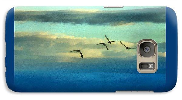 Fly Away Galaxy Case by Ernie Echols