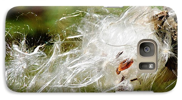 Galaxy Case featuring the photograph Fly Away Milkweed by JRP Photography