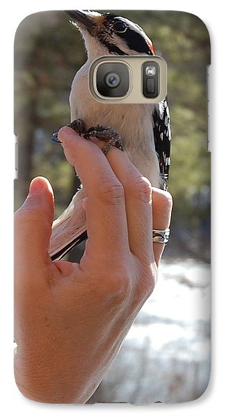 Galaxy Case featuring the photograph Fly Away by Mim White