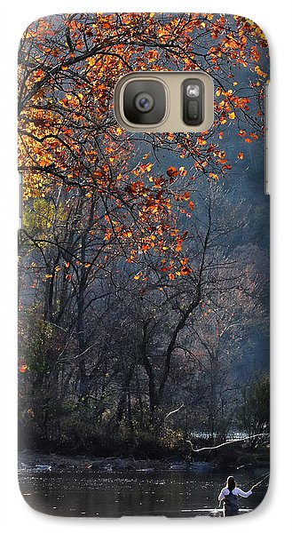 Galaxy Case featuring the photograph Fly Fisherwoman by Denise Romano