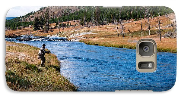 Galaxy Case featuring the photograph Fly Fishing In Yellowstone  by Lars Lentz