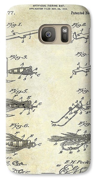 1922 Fly Fishing Lure Patent Drawing Galaxy S7 Case