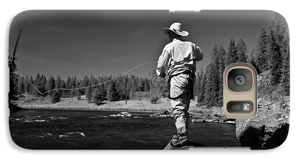 Galaxy Case featuring the photograph Fly Fishing The Box by Ron White