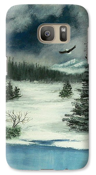 Galaxy Case featuring the painting Fly For Me by Dan Wagner