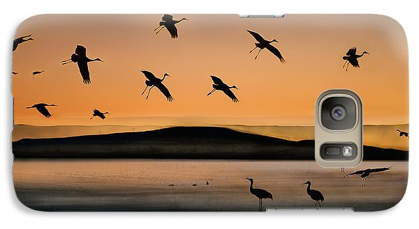 Fly-in At Sunset Galaxy S7 Case