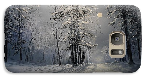 Galaxy Case featuring the painting Fly Me To The Moon by Ken Ahlering