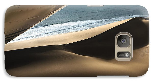 Galaxy Case featuring the photograph Fly Over The Namib by Juergen Klust