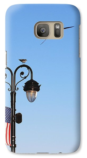 Galaxy Case featuring the photograph Fly To The Moon by Mary Beth Landis