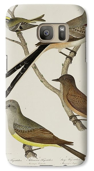 Flycatcher Galaxy S7 Case - Flycatcher And Wren by British Library