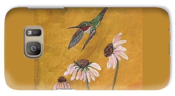 Galaxy Case featuring the painting Flying By by Ella Kaye Dickey