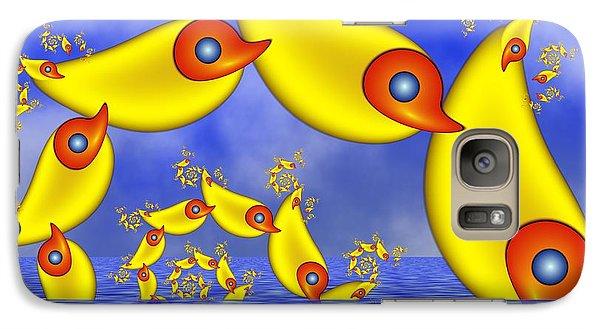 Galaxy Case featuring the digital art Jumping Fantasy Animals by Gabiw Art