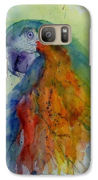 Galaxy Case featuring the painting Flying Feathers by Lori Ippolito
