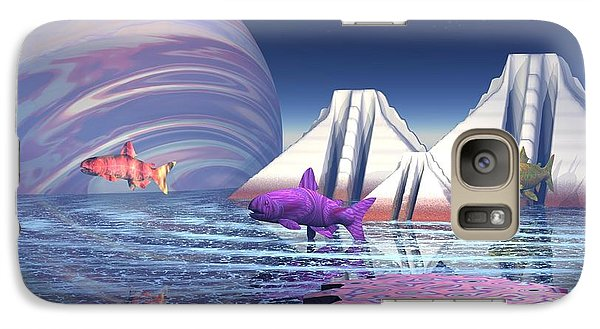 Galaxy Case featuring the digital art Flying Fish by Jacqueline Lloyd