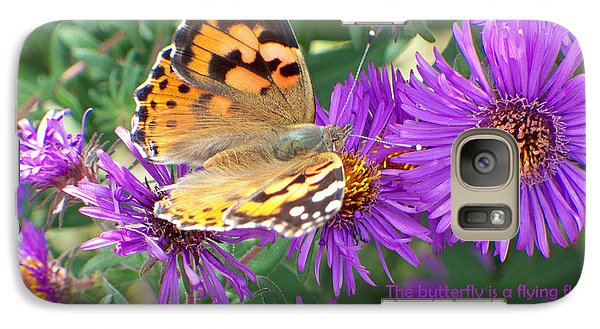Galaxy Case featuring the photograph Flying Flower by Sylvia Thornton