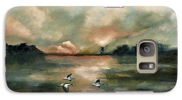 Galaxy Case featuring the painting Flying Geese by Maja Sokolowska