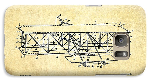 Flying Machine Patent Drawing From 1906 - Vintage Galaxy Case by Aged Pixel