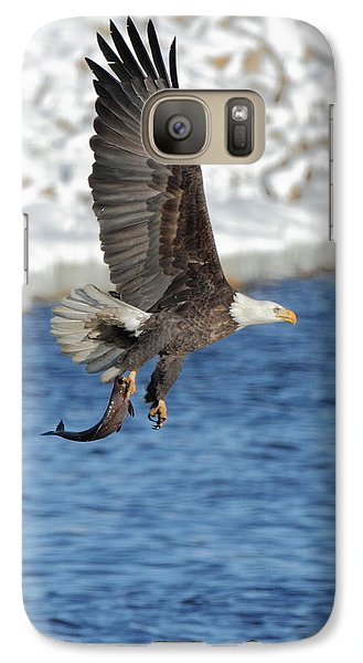Galaxy Case featuring the photograph Flying Off With The Catch by Coby Cooper