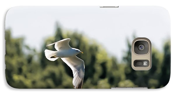 Galaxy Case featuring the photograph Flying Seagull by Leif Sohlman