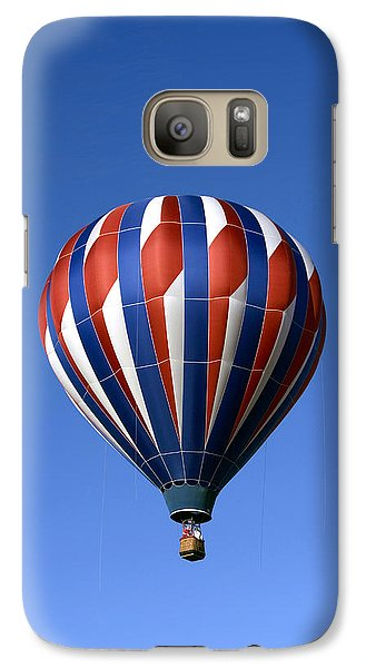 Galaxy Case featuring the photograph Flying The Red White And Blue Iphone Case by Gene Walls