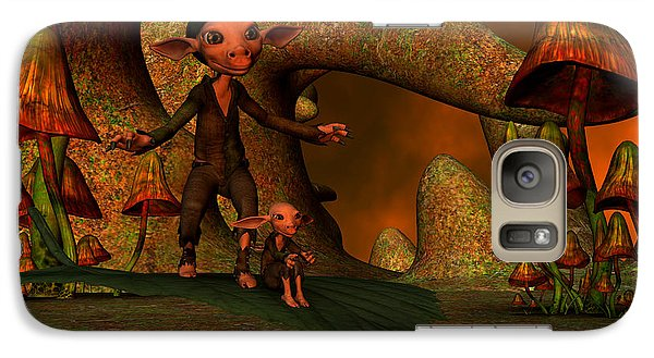 Galaxy Case featuring the digital art Flying Through A Wonderland by Gabiw Art