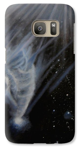 Galaxy Case featuring the painting Flying To The Universe by Min Zou