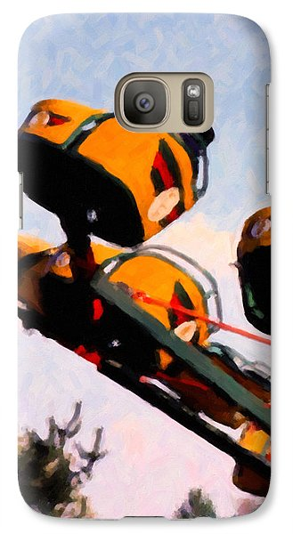 Galaxy Case featuring the digital art Flying With The Carnival by Spyder Webb