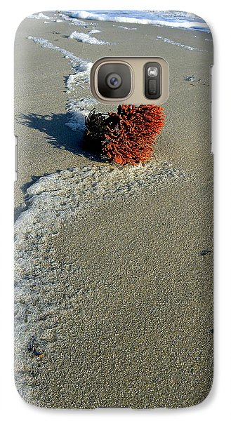 Galaxy Case featuring the photograph Foam And Seaweed On The Beach by Allen Beilschmidt