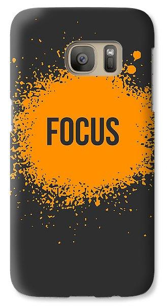 Orange Galaxy S7 Case - Focus Splatter Poster 3 by Naxart Studio