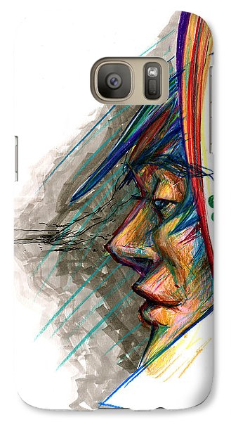 Galaxy Case featuring the drawing Focusing The Attention by John Ashton Golden