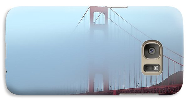 Galaxy Case featuring the photograph Fog And The Golden Gate by Jonathan Nguyen