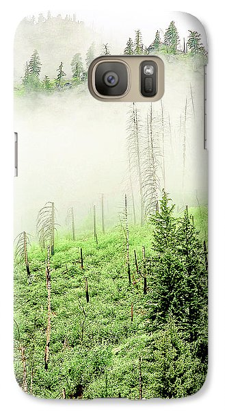 Galaxy Case featuring the photograph Fog And Trees by Craig Perry-Ollila
