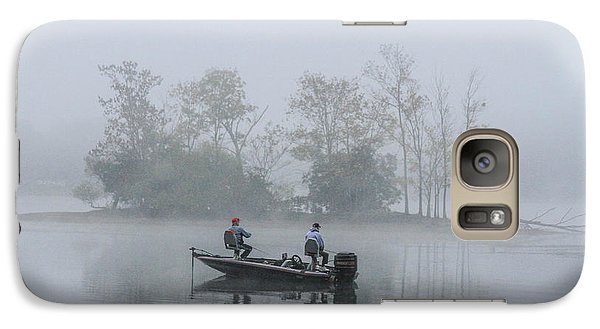 Galaxy Case featuring the photograph Fog Fishing by Geraldine DeBoer