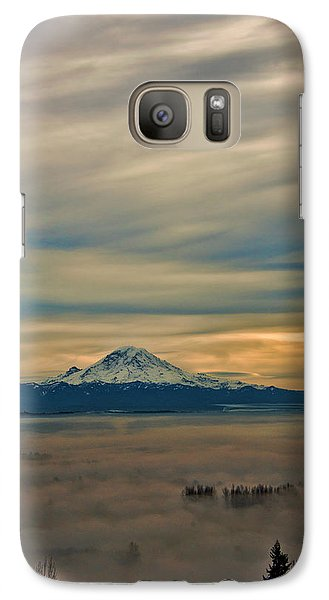 Galaxy Case featuring the photograph Fog In The Valley by Jerry Cahill