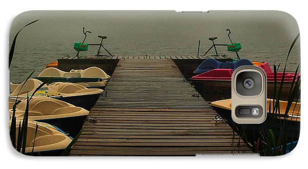 Galaxy Case featuring the photograph Fog On The  Dock by Steven Reed