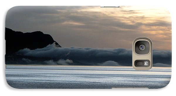 Galaxy Case featuring the photograph Fog Roll Sunset by Jennifer Wheatley Wolf