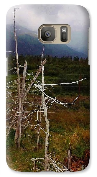 Galaxy Case featuring the photograph Fog Rolling In Over Mountains by Brigitte Emme