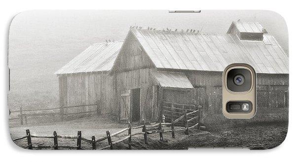Galaxy Case featuring the photograph Foggy Barn by Joan Davis