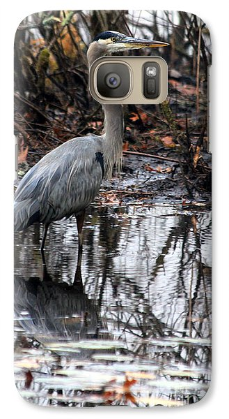 Galaxy Case featuring the photograph Foggy Bog Heron by Kenny Glotfelty