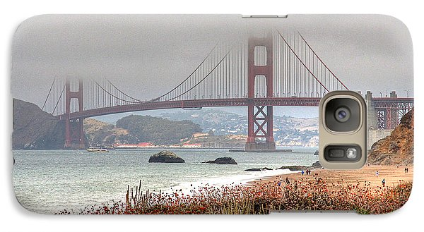 Galaxy Case featuring the photograph Foggy Bridge by Kate Brown