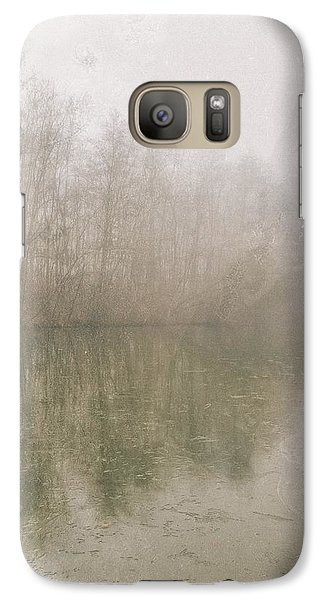 Galaxy Case featuring the photograph Foggy Day On The Border Of The Lake by Maciej Markiewicz