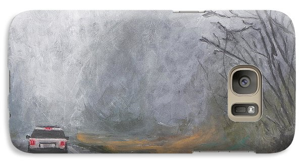 Galaxy Case featuring the painting Foggy Drive Home by Robert Decker