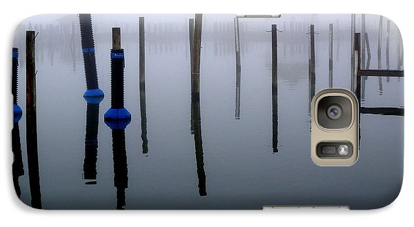 Galaxy Case featuring the photograph Foggy Harbor by Robert Riordan