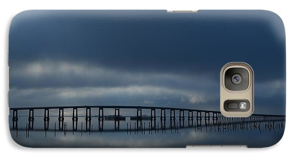 Galaxy Case featuring the photograph Foggy Mirrored Navarre Bridge At Sunrise by Jeff at JSJ Photography
