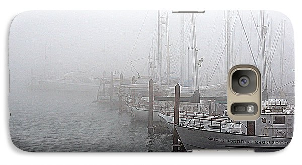 Galaxy Case featuring the photograph Foggy Morning In Charleston Harbor by AJ  Schibig