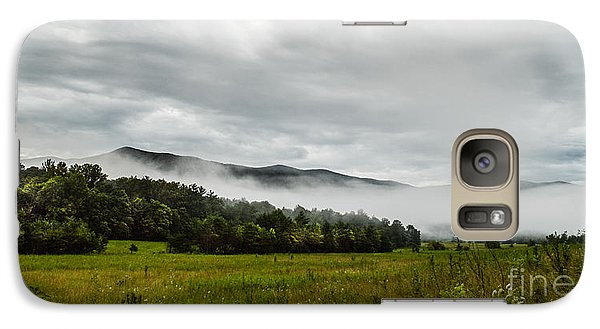 Galaxy Case featuring the photograph Foggy Morning In The Mountains. by Debbie Green
